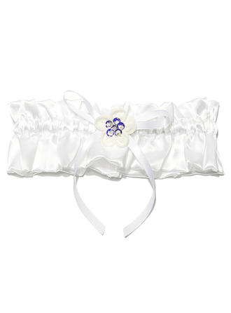 Garters Bridal Wedding/Special Occasion Satin With Rhinestone Garter