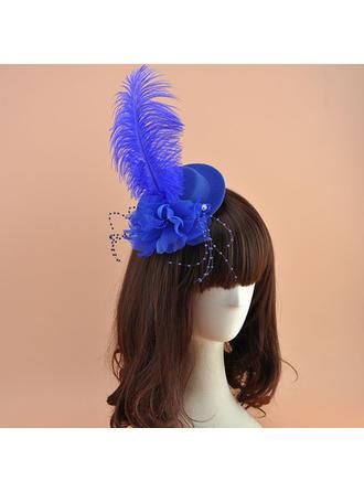 Cambric With Feather Fascinators Elegant Ladies' Hats