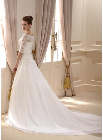 blush pink tea length wedding dresses
