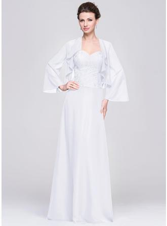 A-Line/Princess Chiffon Sleeveless Sweetheart Floor-Length Zipper Up Mother of the Bride Dresses