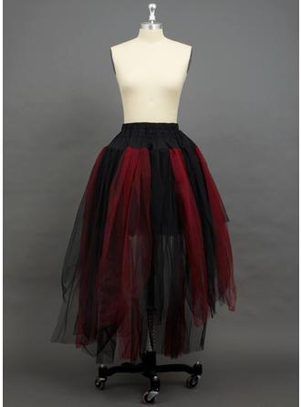 Petticoats Floor-length Tulle Netting Half Slip 2 Tiers Petticoats