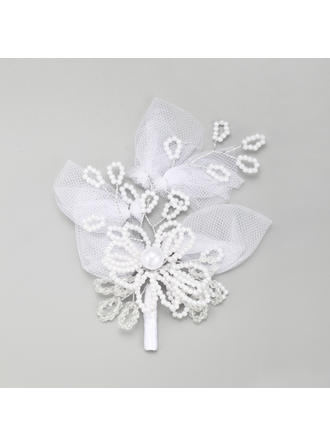 "Hairpins Wedding/Special Occasion Imitation Pearls/Lace 5.71""(Approx.14.5cm) 4.33""(Approx.11cm) Headpieces"