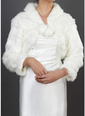 Wrap Wedding Faux Fur Long Sleeve Other Colors Wraps