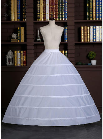 Bustle Floor-length Satin Full Gown Slip 1 Tiers Petticoats (037190847)