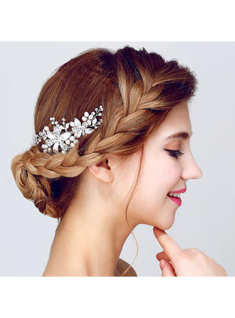 "Combs & Barrettes Wedding/Special Occasion/Party Alloy/Imitation Pearls 4.13""(Approx.10.5cm) 2.17""(Approx.5.5cm) Headpieces"