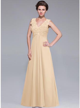 A-Line/Princess V-neck Chiffon Elegant Mother of the Bride Dresses