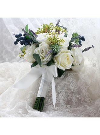 """Bridal Bouquets Hand-tied Wedding/Party Ribbon 9.06""""(Approx.23cm) Wedding Flowers"""