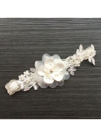 Garters Women/Bridal Wedding/Special Occasion Lace With Flower/Imitation Pearls Garter