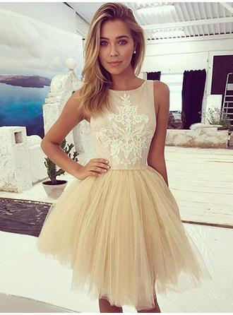 Appliques A-Line/Princess Short/Mini Tulle Homecoming Dresses