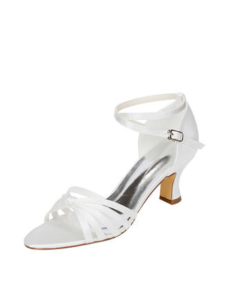 Women's Sandals Chunky Heel Silk Like Satin With Others Wedding Shoes