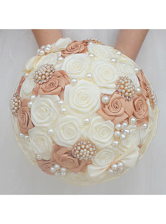"""Bridal Bouquets/Bridesmaid Bouquets Round Wedding/Party Satin 7.87""""(Approx.20cm) Wedding Flowers"""