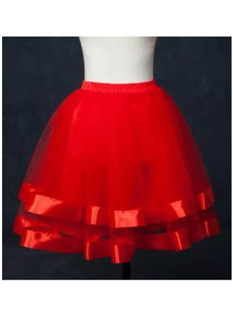 Bustle Short-length Tulle Netting/Satin Ball Gown Slip 2 Tiers Petticoats (037190863)
