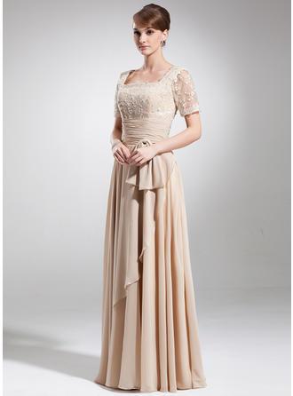 Gorgeous シフォン スクエアネック Aライン/プリンセスライン2 ミセスドレス (008006154)