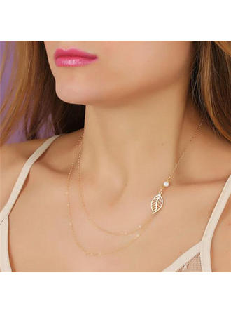 Exquisite Alloy Ladies' Necklaces (011065843)