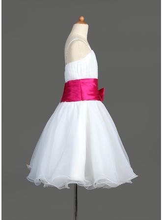 Fashion Aライン/プリンセスライン2 オーガンザ/Charmeuse フラワーガールドレス (010005774)