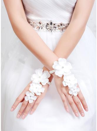 Fabric Ladies' Gloves Wrist Length Bridal Gloves Fingerless Gloves