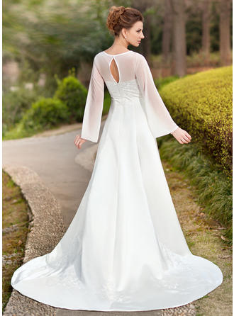 beach wedding dresses with long sleeves
