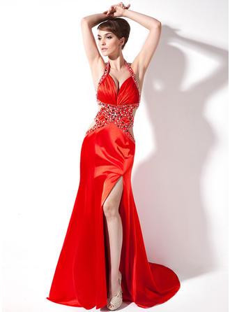 Flattering Sweetheart Trumpet/Mermaid Charmeuse Evening Dresses