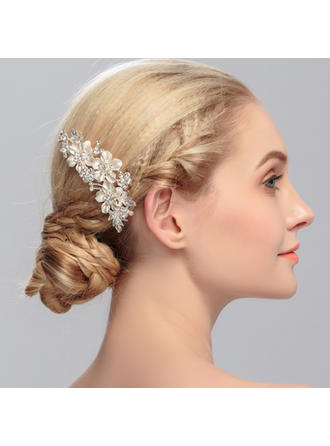 """Combs & Barrettes Wedding/Special Occasion Rhinestone/Alloy 4.02""""(Approx.10.2cm) 2.76""""(Approx.7cm) Headpieces"""
