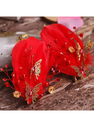 Combs & Barrettes Wedding/Special Occasion/Party Alloy/Imitation Pearls/Feather Stylish Ladies Headpieces