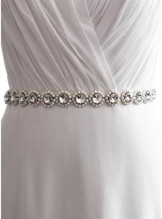 Women Satin With Rhinestones/Imitation Pearls Sash Fashional Sashes & Belts