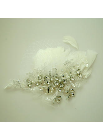 Ladies Beautiful Rhinestone/Feather/Lace Forehead Jewelry With Rhinestone