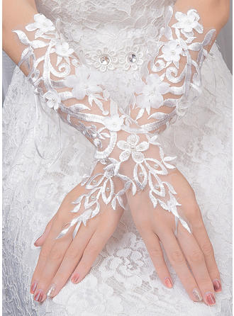 Tulle Ladies' Gloves Bridal Gloves Fingerless 30cm(Approx.11.81inch) Gloves (014132846)