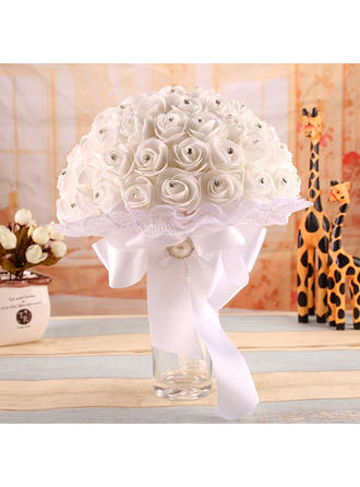 "Bridal Bouquets Free-Form Wedding Satin 13.78""(Approx.35cm) Wedding Flowers"