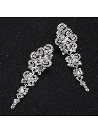 Earrings Alloy/Rhinestones Pierced Ladies' Charming Wedding & Party Jewelry (011167946)