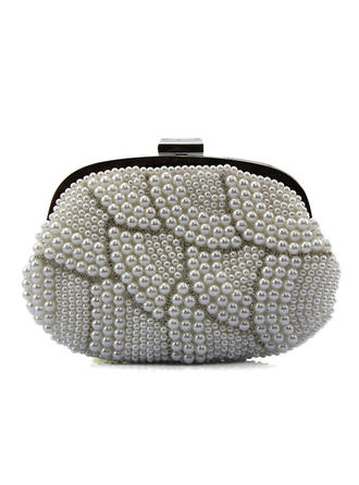 Clutches/Fashion Handbags Wedding/Casual & Shopping Crystal/ Rhinestone/Imitation Pearl Clip Closure Fashional Clutches & Evening Bags