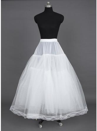 Petticoats Floor-length Nylon/Tulle Netting A-Line Slip 3 Tiers Petticoats