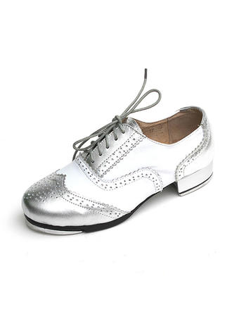Unisex Tap Flats Real Leather Dance Shoes (053180255)