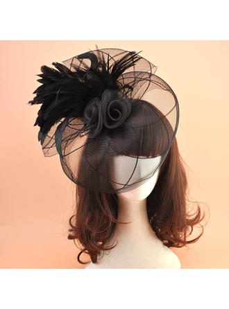 Organza With Feather Fascinators Vintage Ladies' Hats
