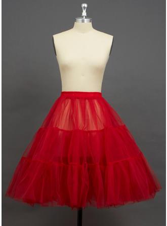 Petticoats Knee-length Tulle Netting Half Slip 2 Tiers Petticoats