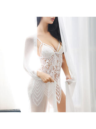 Lingerie Set Wedding/Special Occasion Feminine Lace Sexy Lingerie (041193517)