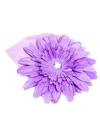 "Hats Casual/Baby Shower Silk Flower/Cotton/Acrylic 6.10""(Approx.15.5cm) 5.71""(Approx.14.5cm) Headpieces"