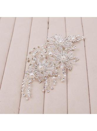 Glamourous Rhinestone/Imitation Pearls Flowers & Feathers