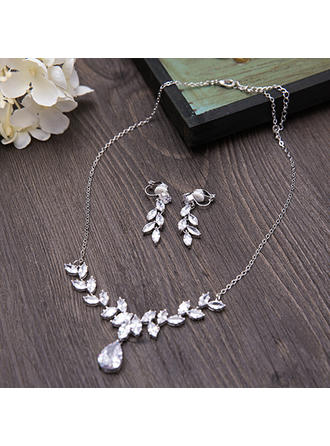 Jewelry Sets Zircon Lobster Clasp Earclip Ladies' Wedding & Party Jewelry