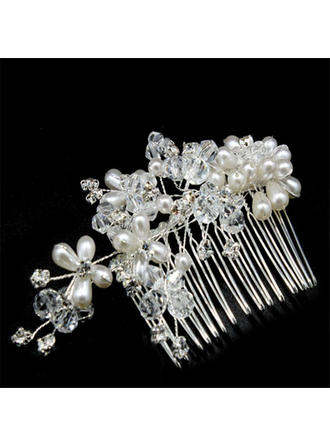 Unique Crystal/Imitation Pearls Combs & Barrettes (Sold in single piece)