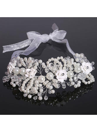 "Headbands Wedding Crystal/Imitation Pearls/Polymer Clay 7.09""(Approx.18cm) 3.55""(Approx.9cm) Headpieces"