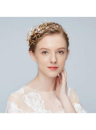 Gorgeous Alloy Tiaras With Rhinestone/Venetian Pearl (Sold in single piece)