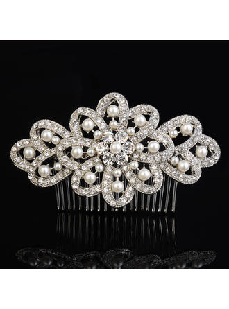 "Combs & Barrettes Wedding/Special Occasion/Casual/Outdoor/Party Rhinestone/Alloy/Imitation Pearls 4.53""(Approx.11.5cm) 2.76""(Approx.7cm) Headpieces"