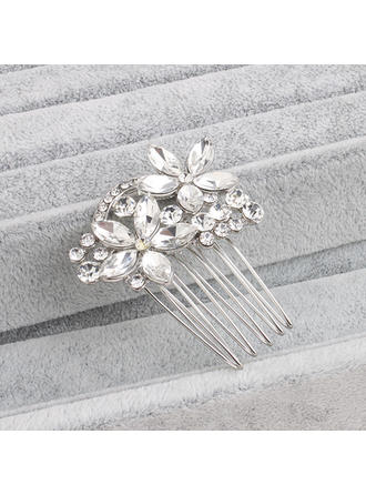 Ladies Beautiful Rhinestone/Alloy Combs & Barrettes With Rhinestone (042115304)