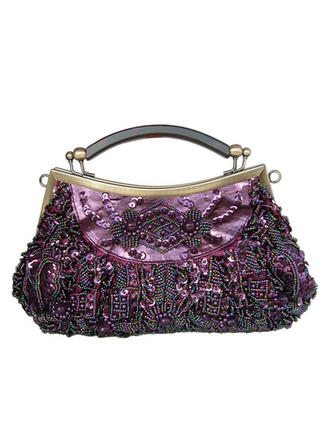 Clutches Ceremony & Party Silk Snap Closure Gorgeous Clutches & Evening Bags