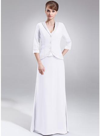 A-Line/Princess V-neck Chiffon Charmeuse 2019 New Mother of the Bride Dresses