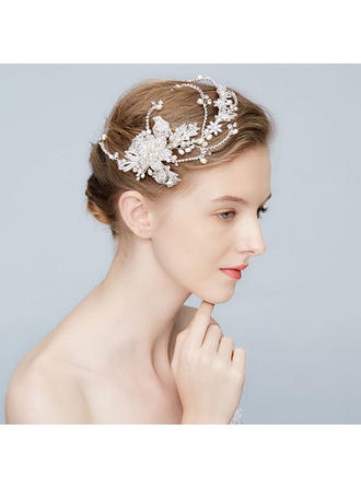 Elegant Alloy Hairpins With Rhinestone/Venetian Pearl (Sold in single piece)