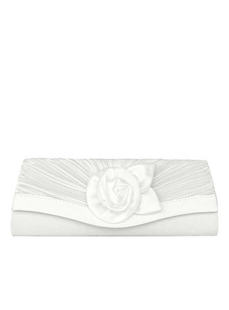 Clutches/Satchel Wedding/Ceremony & Party/Casual & Shopping Satin Clip Closure Delicate Clutches & Evening Bags (012188162)