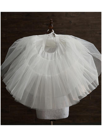 Jupons Tissu tulle/Taffeta Combinaison a-ligne 3 couches Mariage Jupons