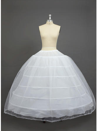 Petticoats Floor-length Nylon/Tulle Netting Ball Gown Slip 2 Tiers Petticoats