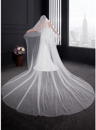 Two-tier Cut Edge Cathedral Bridal Veils (006150919)